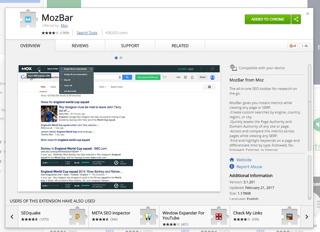 Come scegliere i blog per pubblicare guest post: SEOmoz bar