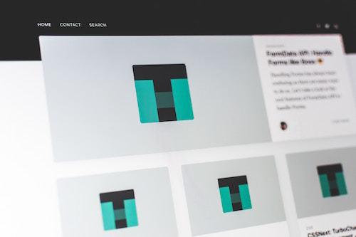 elementi visibili - layout sito web