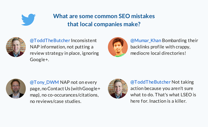what are some SEO mistakes local companies make
