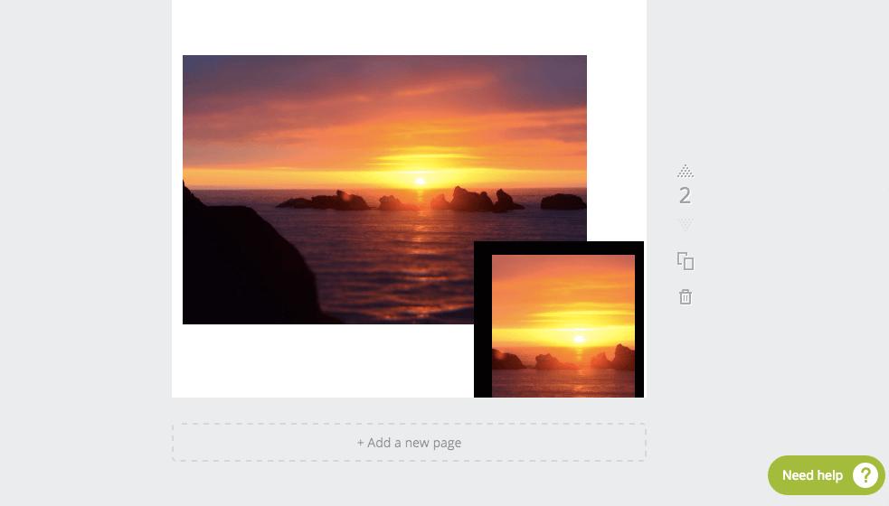 Combinando Crop e Copy su Canva, programma gratuito di grafica
