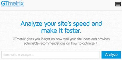 GtMetrix: test de velocidad de carga web