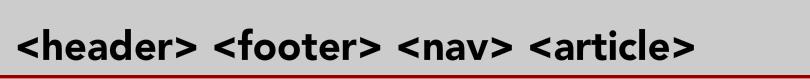 Balises HTML5 sémantiques