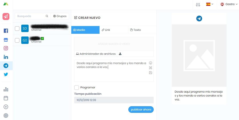 Canales de Telegram - Programación
