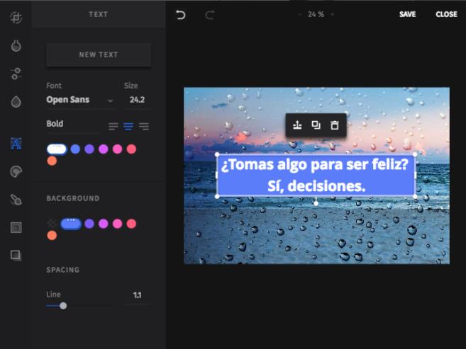 Editor de imágenes SEMrush - Control creativo