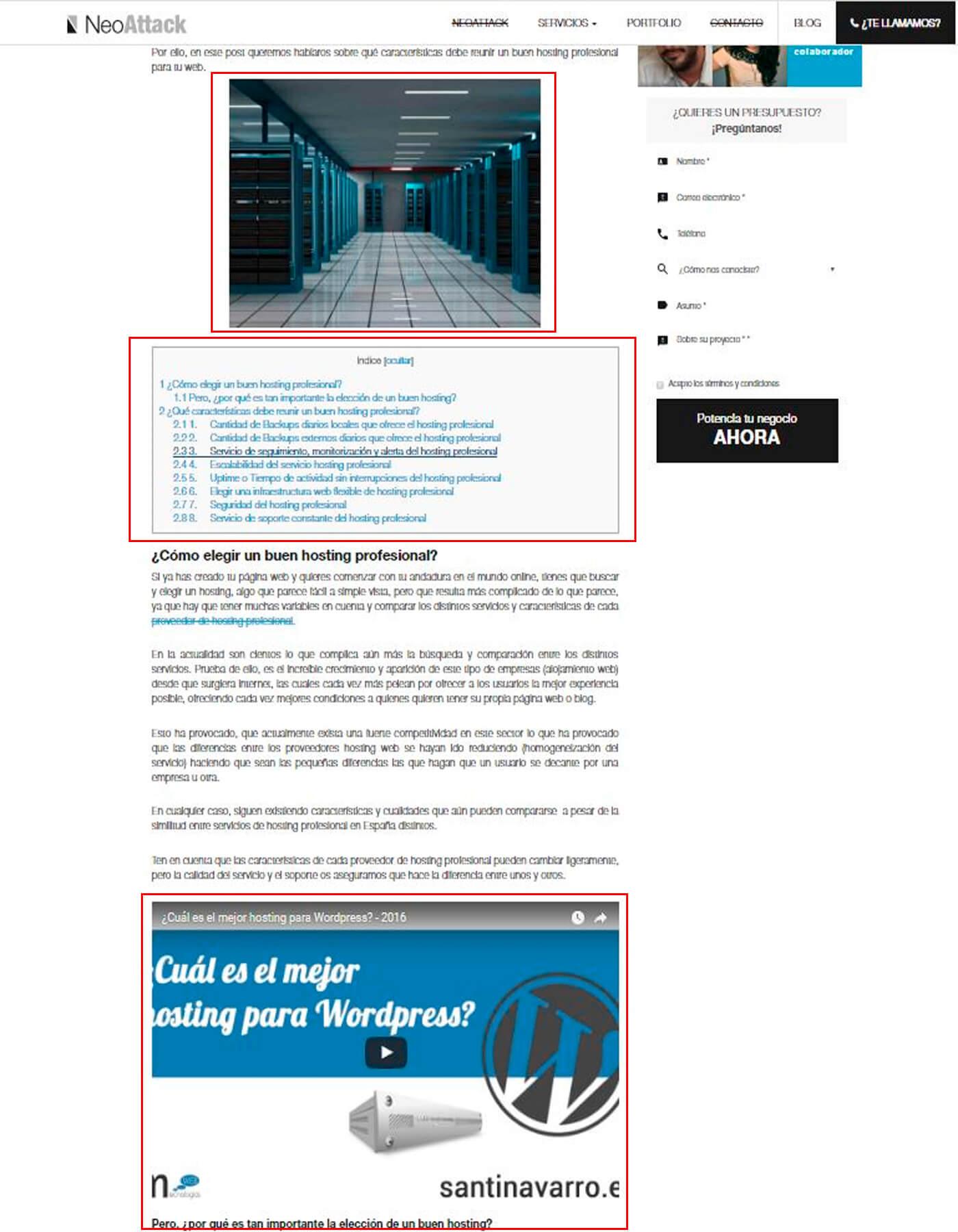 Usabilidad web para mejorar la legibilidad y estructura de los contenidos