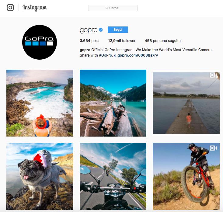 Ispirati all'account Instagram di Gopro per raccontare il tuo brand