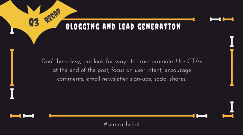 Blogging and lead generation