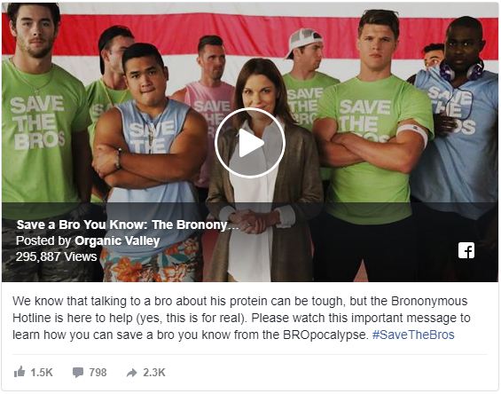 Organic Valley- Save a Bro You Know campaign video