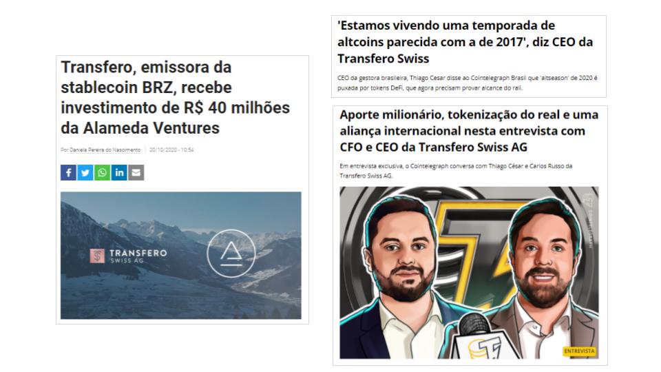 Transfero PR media