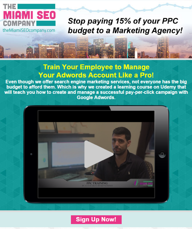 AdWords Course Promo