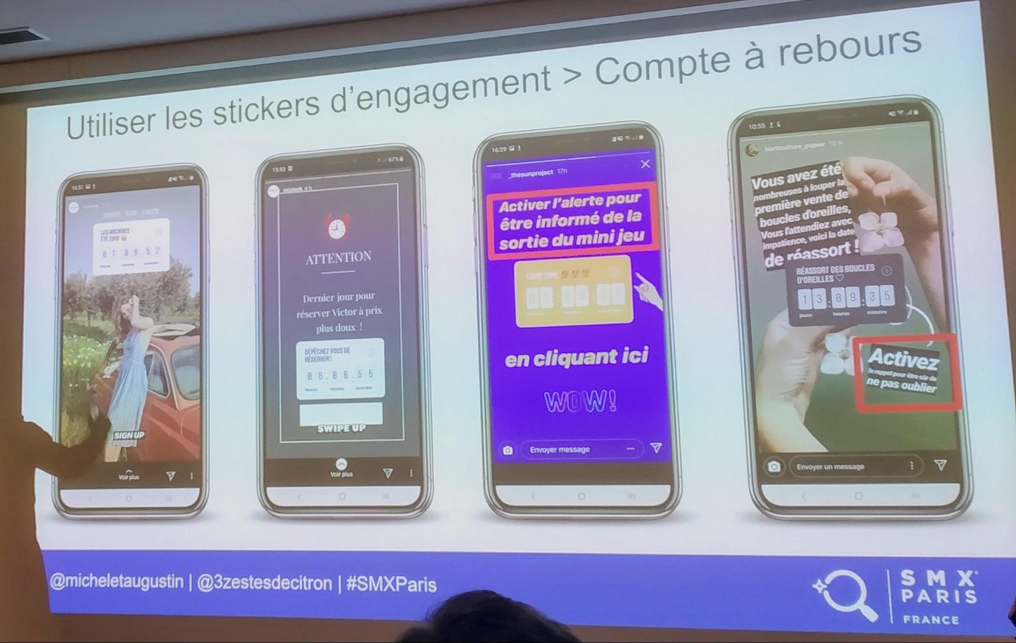 les stickers d'engagements sur Instagram