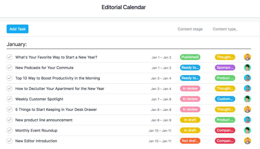 editorial calendar tool