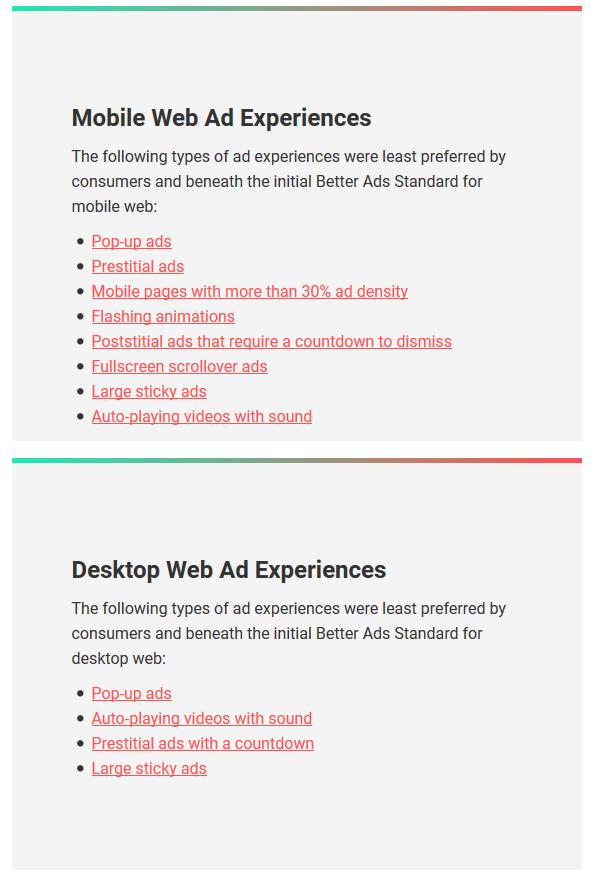 Pubilcidad agresiva - Experiencias de ads para móvil y desktop