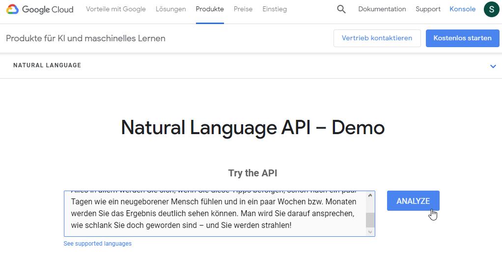 Das NLP-API-Tool von Google: Die nächste Stufe der Content-Optimierung. Bild 6