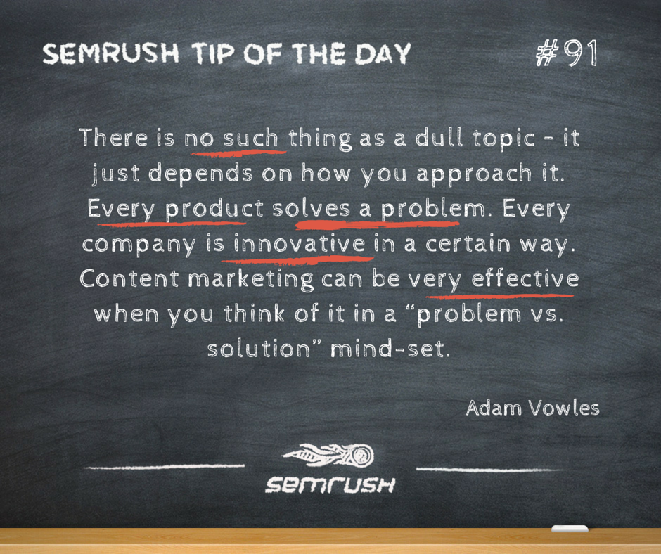 #91 Adam Vowles no dull topic content