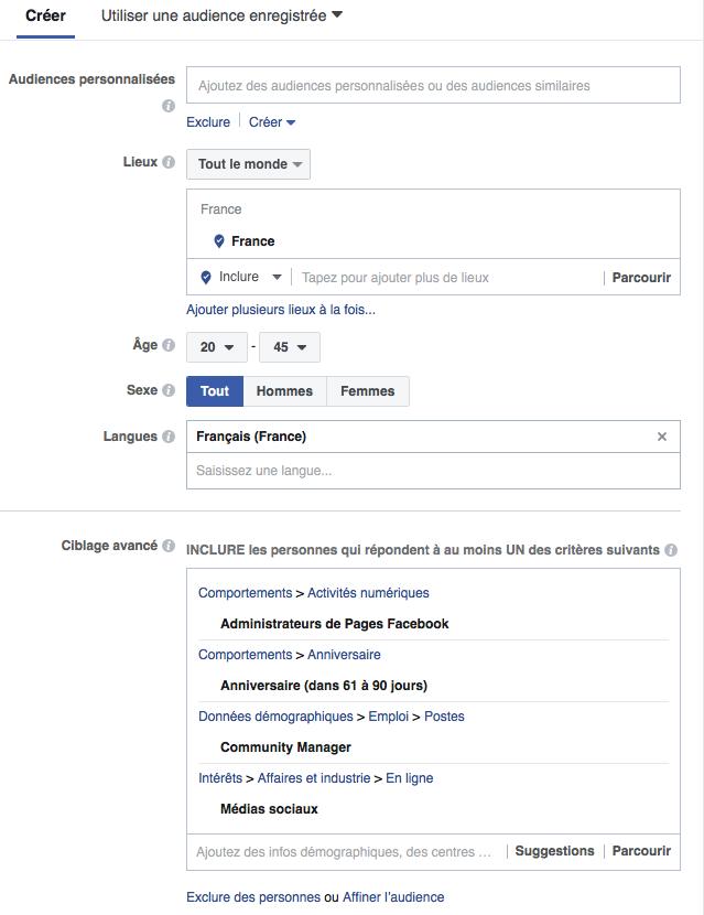 Le ciblage sur Facebook