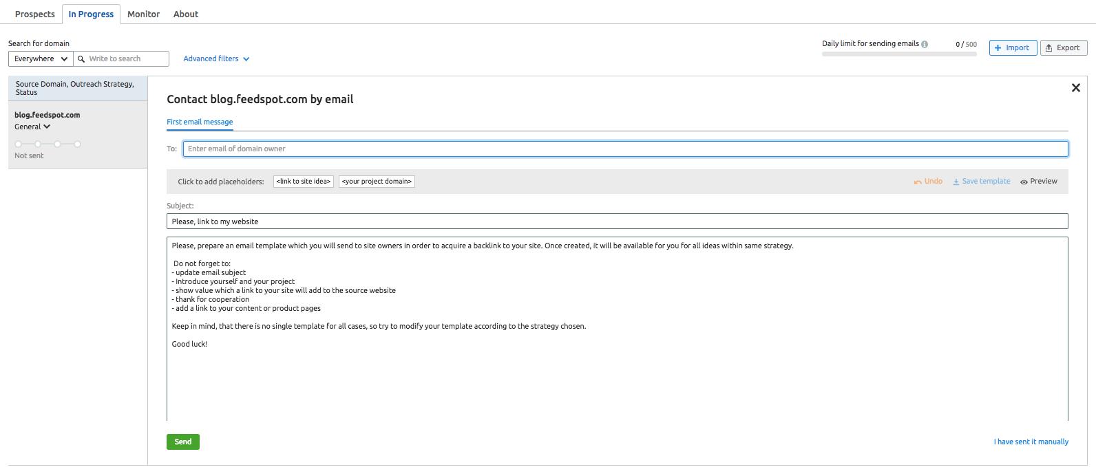 Cómo hacer Linkbuilding - Datos de contacto