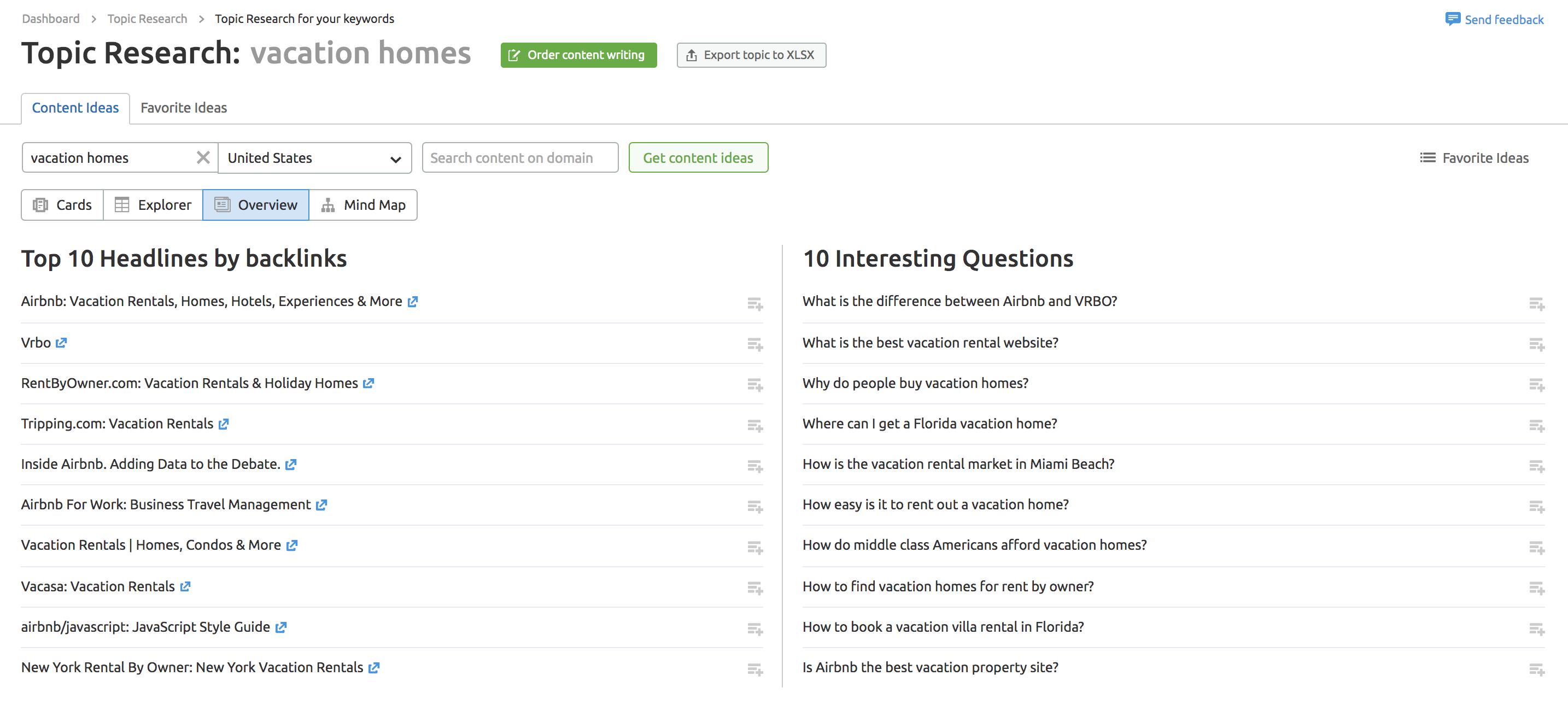 Topic Research Tool Data Screenshot
