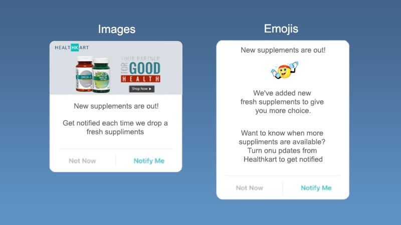 Test di NotifyVisitors: le notifiche push con emoji hanno un miglior ctr