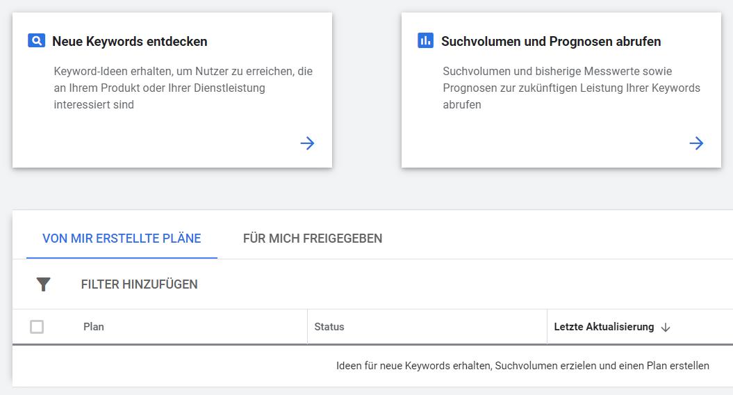 Google Ads Keyword-Planer