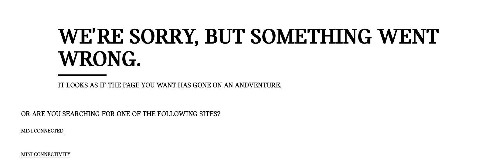 Mini 404 page