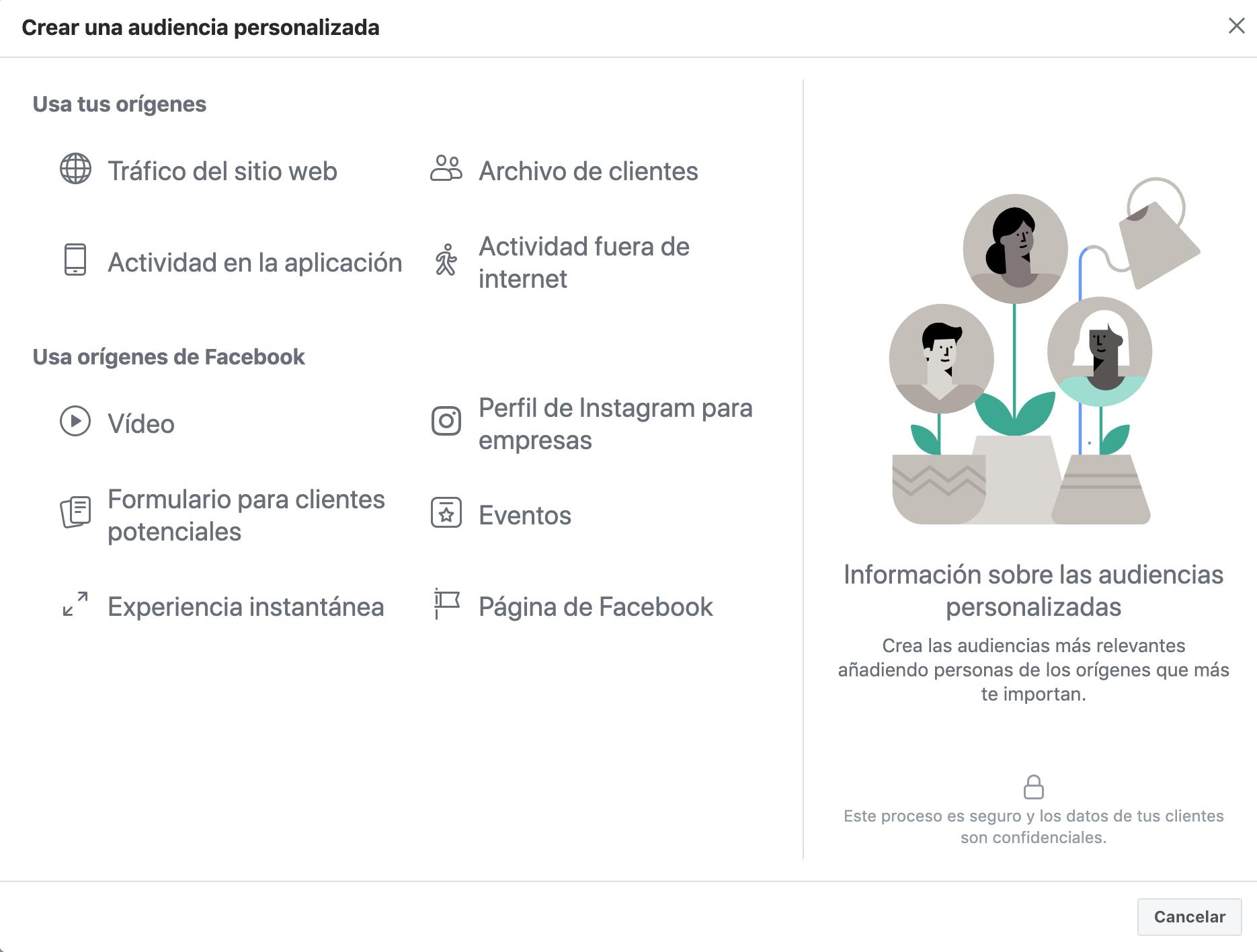 Instagram Ads - Público personalizado