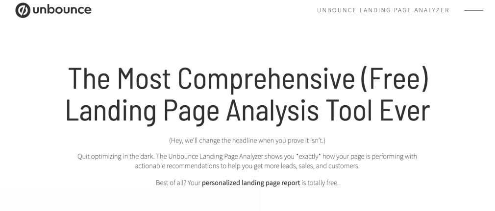 Content marketing examples - Unbounce