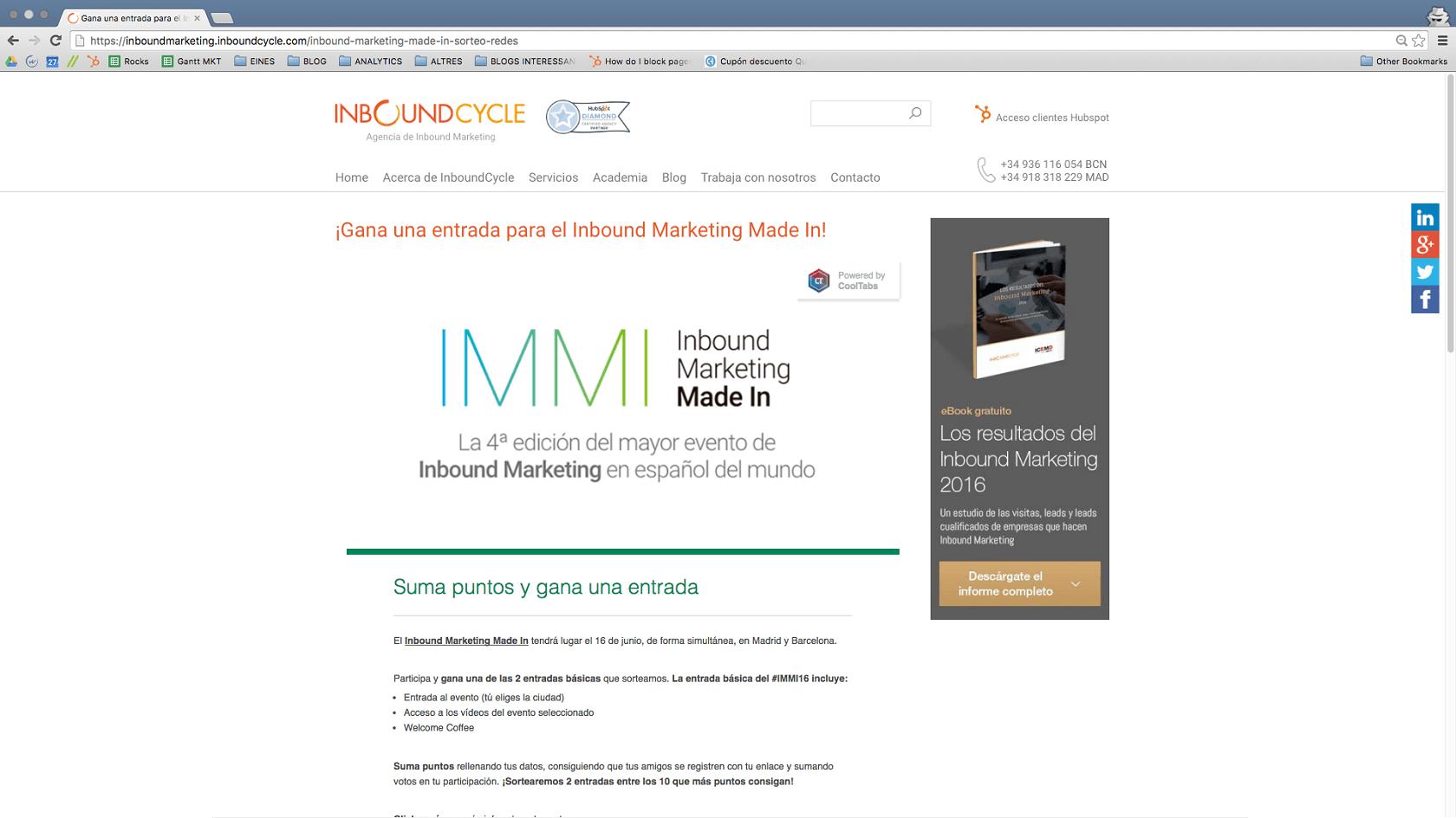 Concurso para el evento de #IMMI16