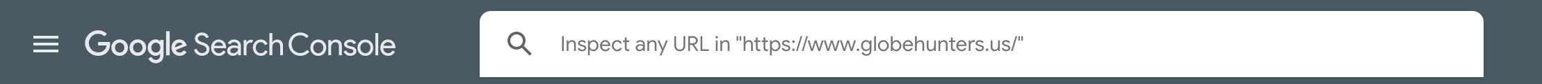 URL Inspect box on Google Search Console