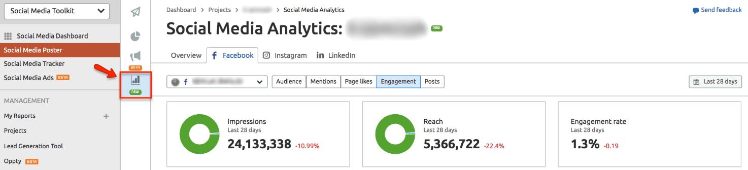 Análise de tráfego de subdomínio e mídias sociais: atualizações da ferramenta SEMrush [June 2020].  Imagem 8
