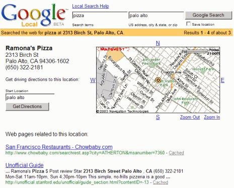Lancio di Google local