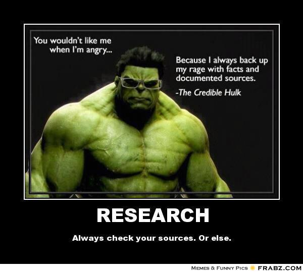 The Credible Hulk: Check your sources!