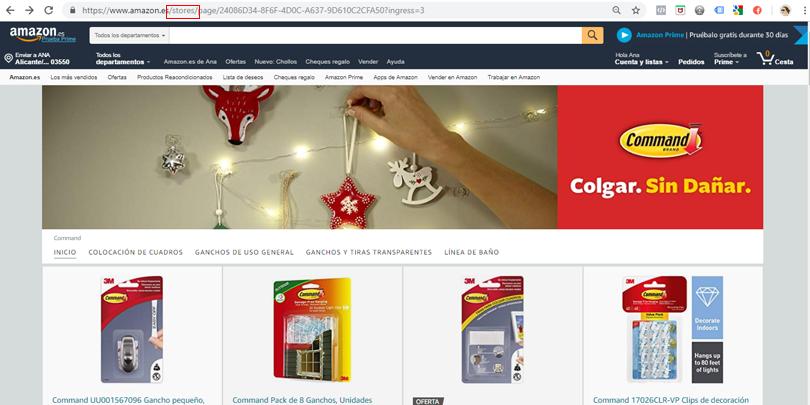 Publicidad en Amazon - Ejemplo Store