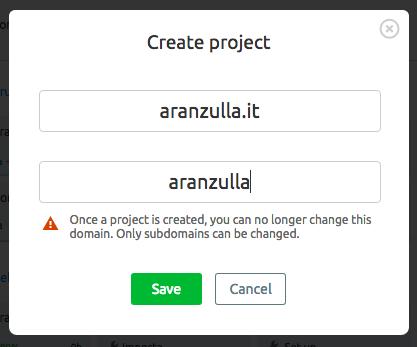 Processo di ottimizzazione SEO con SEMrush: crea progetto