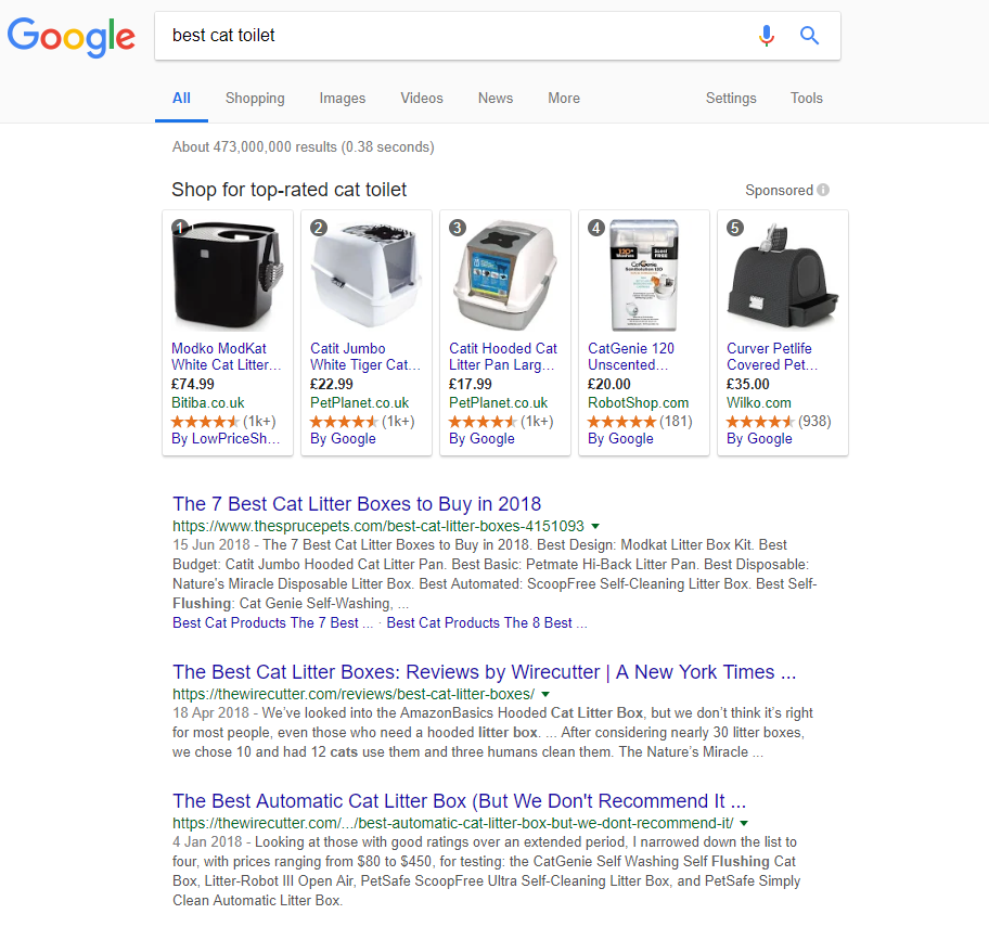 Search results for 'best cat toilet'