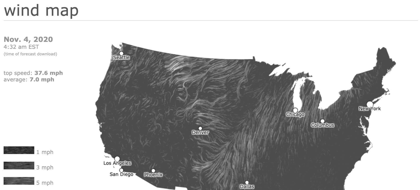 Infographic Examples Wind Map