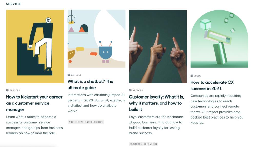 Content marketing examples - Zendesk