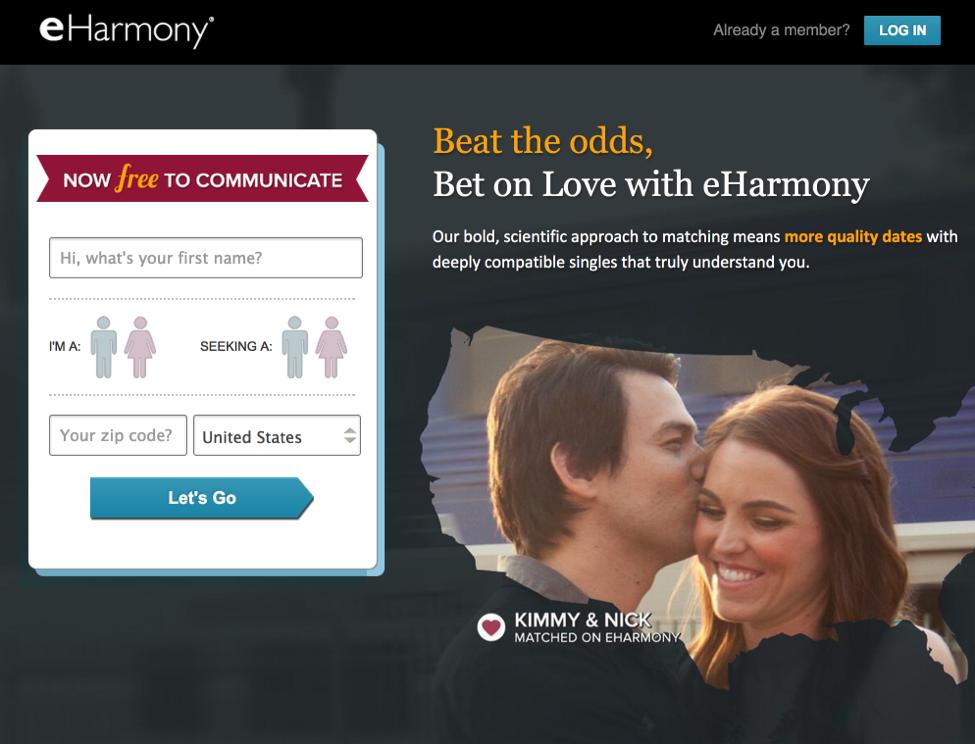Eharmony Landing Page