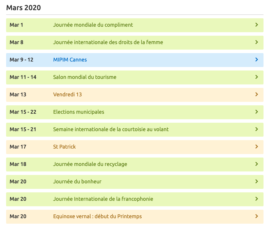 calendrier contenu - 5 tendances du content marketing en 2020