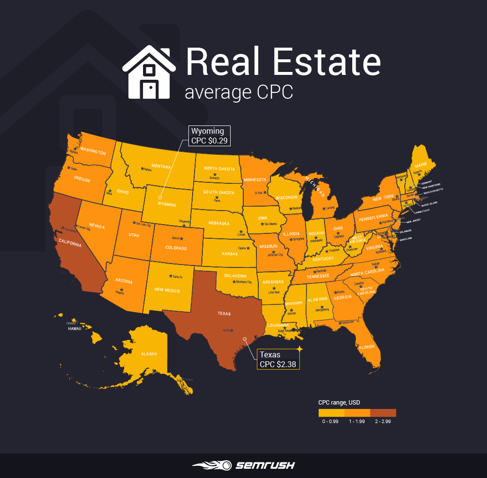 Most and least expensive states to advertise in - Real Estate