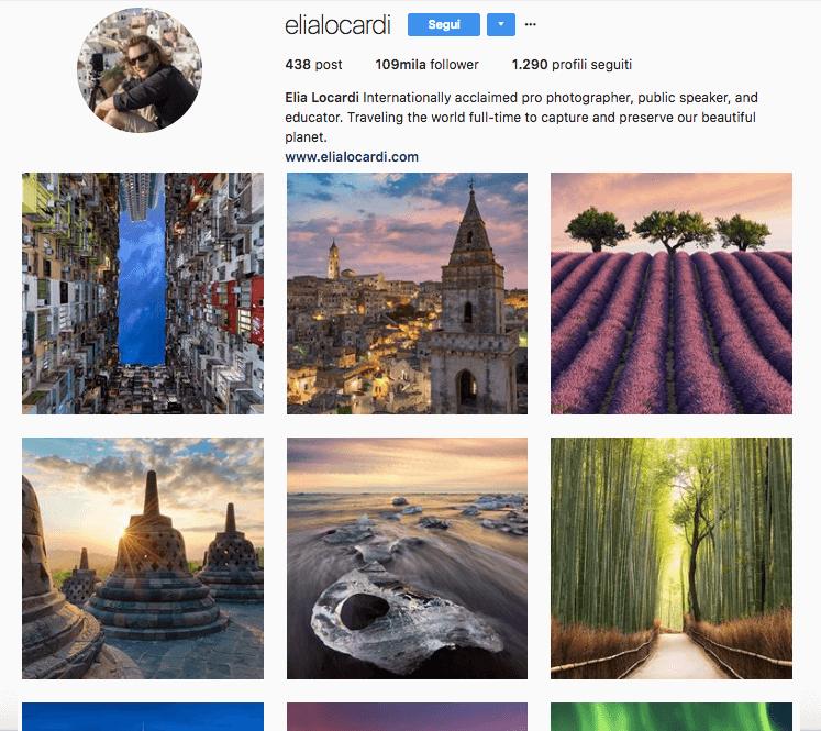 Elia Locardi: account Instagram interessante