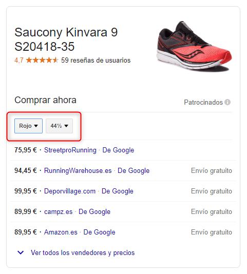 Google Shopping en Black Friday - Atributos opcionales