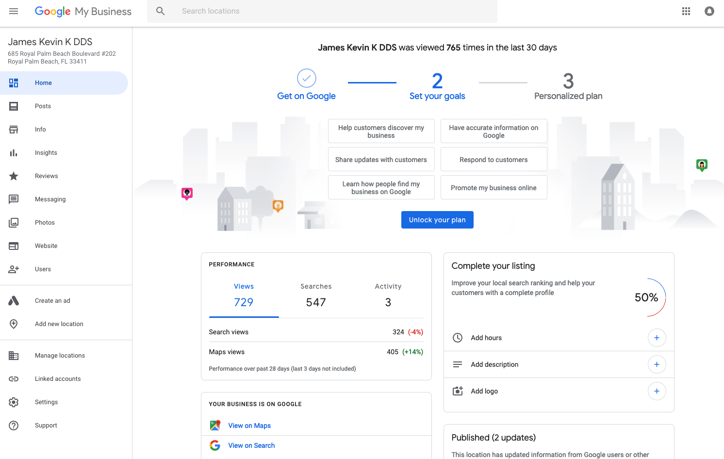 New onboarding process in Google My Business