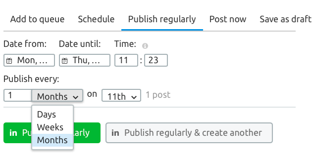 Un tool per pianificare i contenuti da postare su Linekdin