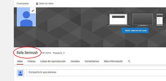 Crear canal Youtube - Canal YouTube