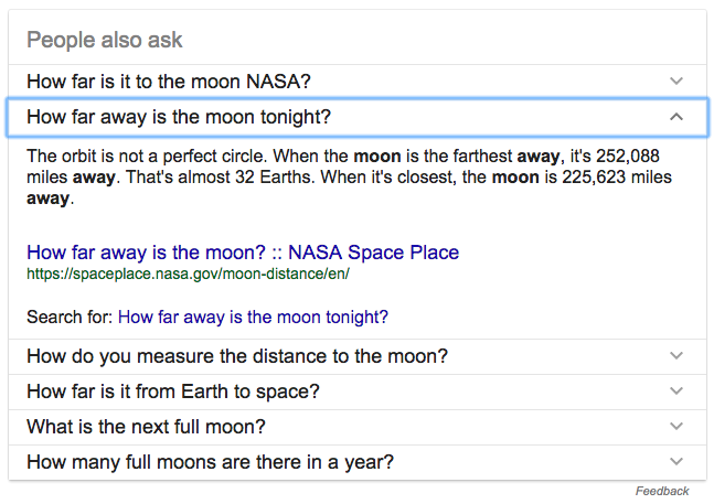 Related questions on SERP