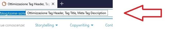 Ecco come appare il tag title nelle tab del browser