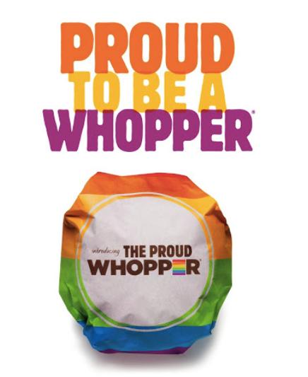 Proud Whopper campaign image