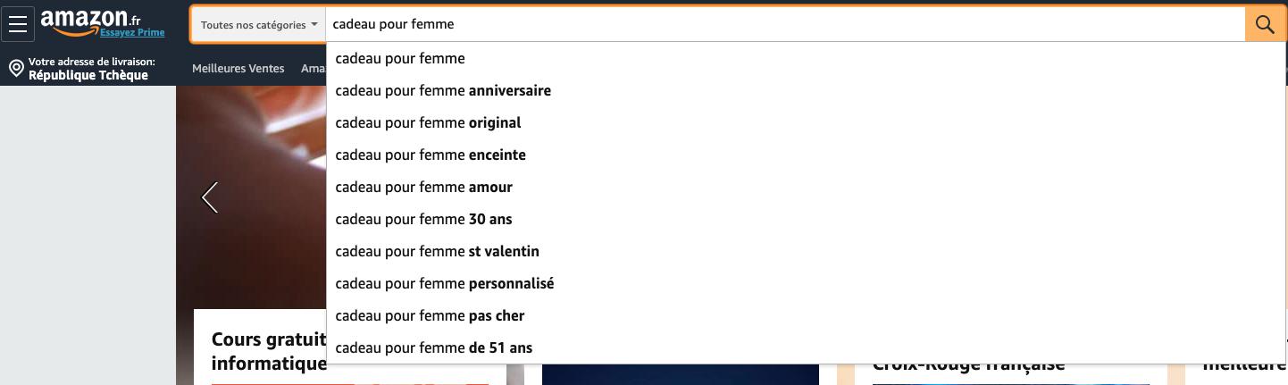 Amazon autocomplete