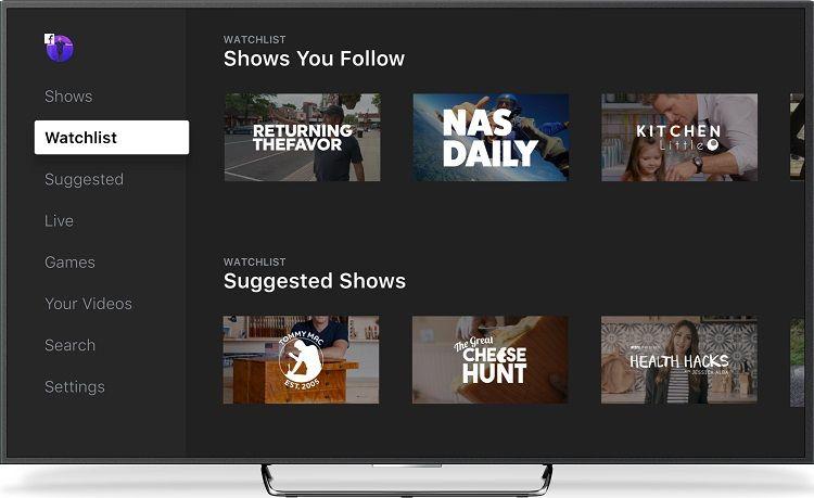 Plataformas de vídeo - Facebook watch programación